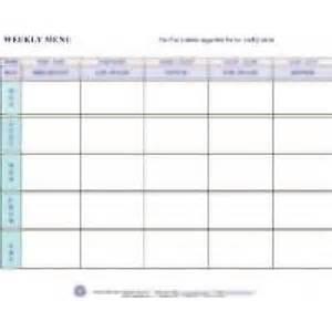 blank daycare menu template weekly menu