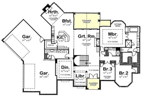 house plan    bedroom  sq ft french