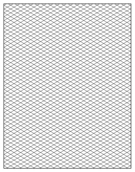 drawing paper template printable isometric graph paper for artists