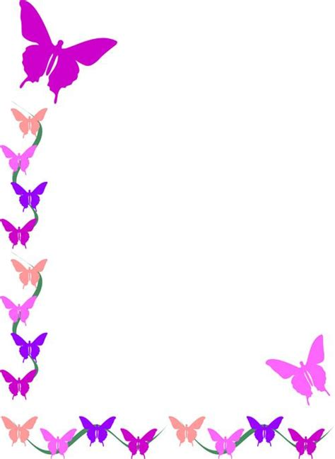 butterfly border template 88 best borders frames animals images on