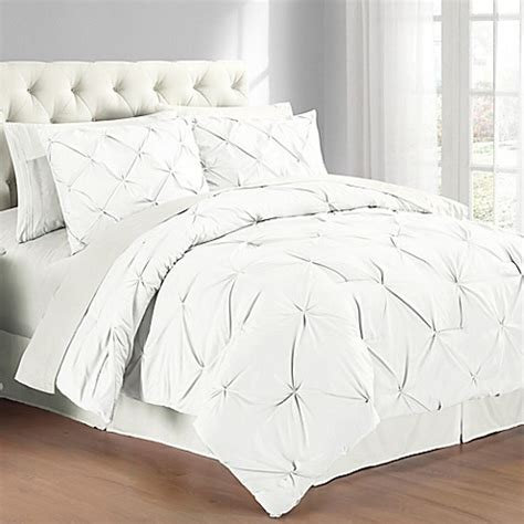 White Bed Set Buy Pintuck Comforter Set In White From Bed Bath Beyond