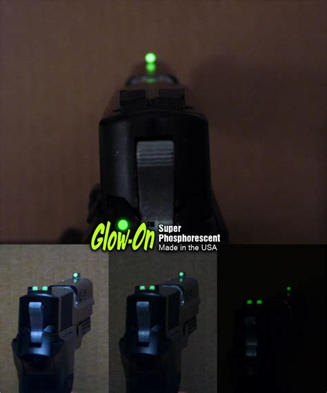glow in the paint for gun sights glow on phosphorescent gun sights paint for sale on