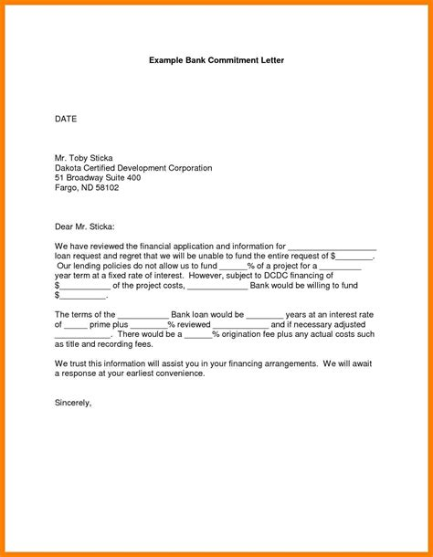 Commitment Letter Employer Commitment Letter Format Cover Letter Exle