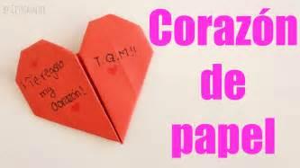 como hacer un coraz 243 n de papel facil san valentin
