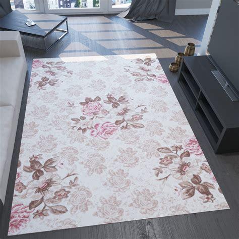 teppich beige rosa moderner designer teppich 3d effekt und lurex blumen