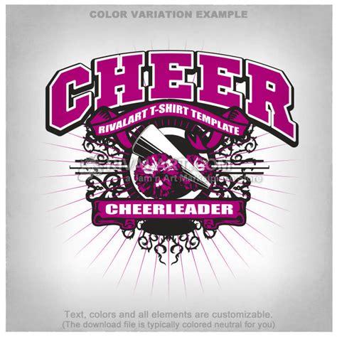 Cheerleading T Shirt Design Template Cheer 03 Rq Cheerleading T Shirt Designs Templates