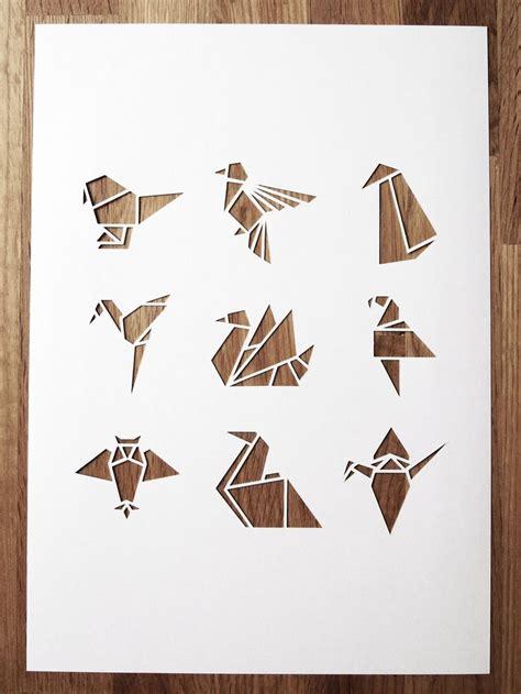 Origami Cut Outs - white origami bird a4 papercut