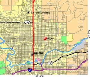Spokane Zip Code Map by 99207 Zip Code Spokane Washington Profile Homes