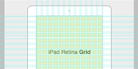 ipad grid template retina grid in psd bypeople
