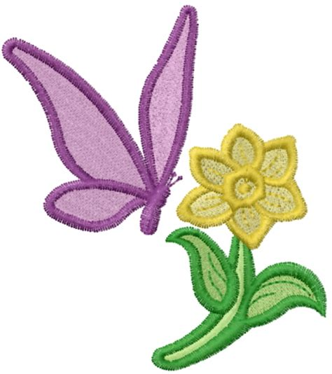 Bv4765ls Embroidery Flower And Butterfly flower and butterfly embroidery designs machine