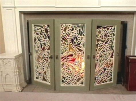 20 Best Fireplace Images On Pinterest Fireplace Screens Stained Glass Fireplace Doors