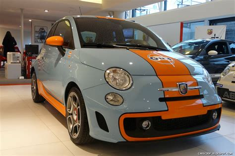 gulf racing colors fiat abarth 500 gulf limited edition the real photos