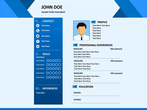 resume powerpoint template professional resume powerpoint template sketchbubble