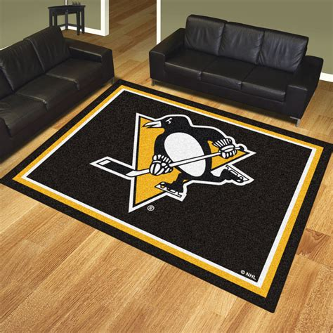 Area Rugs Pittsburgh Pa Pittsburgh Penguins 1 4 Quot Plush Area Rug 8 X 10