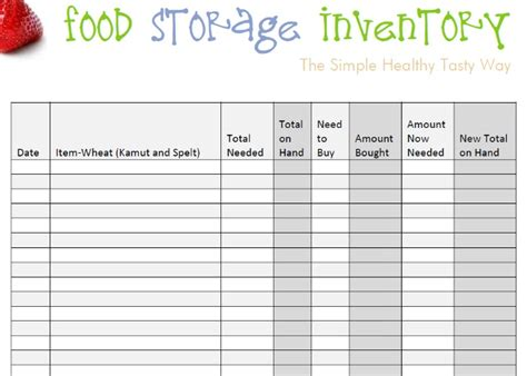 food inventory template food storage inventory spreadsheets you can for