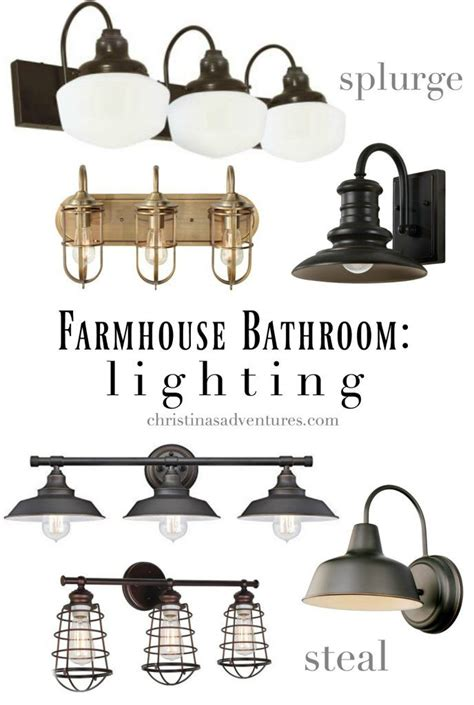 farmhouse style bathroom light fixtures liz farmhouse bathroom design elements and sources home projects we