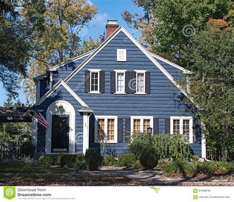 wood sided houses blue wood sided house stock photo image 61568248