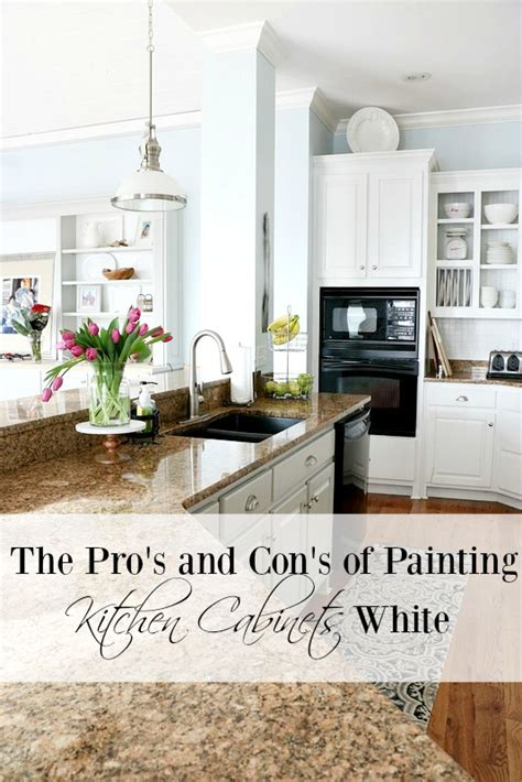 Painting Kitchen Cabinets White by Pros And Cons Of Painting Kitchen Cabinets White Duke