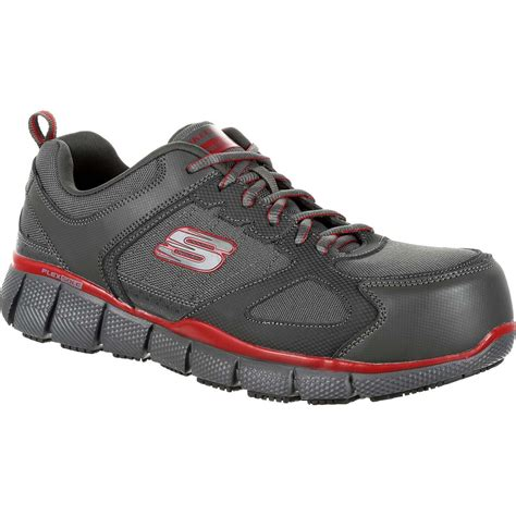 composite toe athletic shoes skechers telfin composite toe puncture reisistant slip