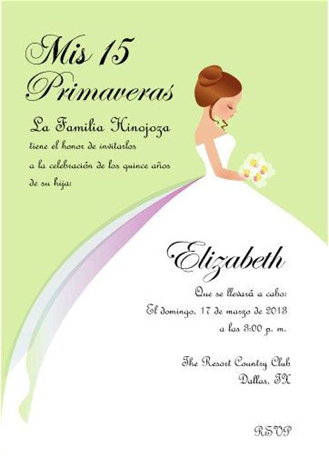 invitations templates for quinceaneras in spanish 13 best quinceanera invitations images on pinterest