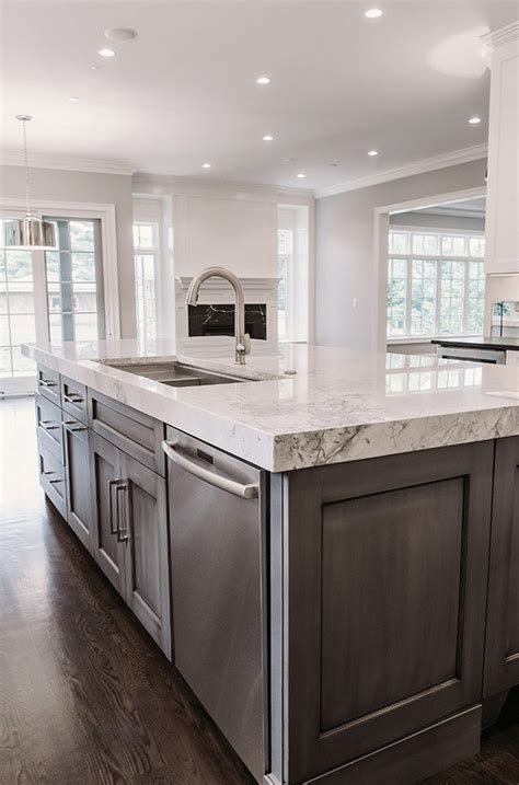white marble kitchen with grey island house home category movie houses home bunch interior design ideas