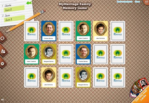 My Gift Card Site Register - turn your family tree into a personalized memory game family tree