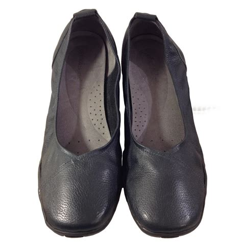 ballet flats comfortable walking auditions navy blue hillcrest flats flats on sale