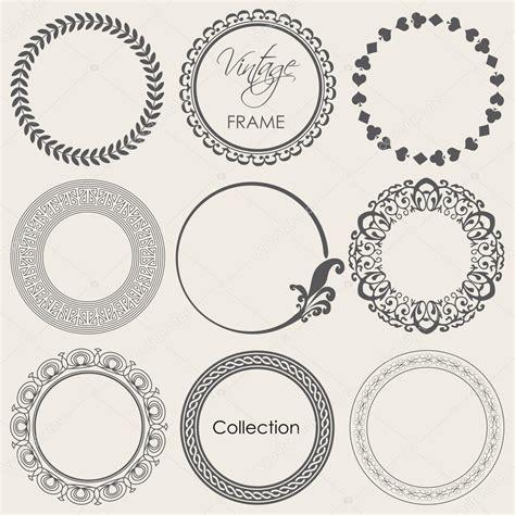 imagenes vectoriales vintage conjunto de marcos vintage redondo archivo im 225 genes