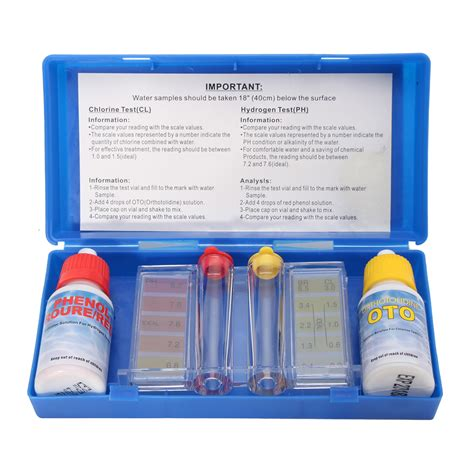 chlorine color portable ph chlorine water quality test kit swimming pool