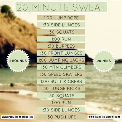 travel workout 20 minute sweat hiit bodyweight workout