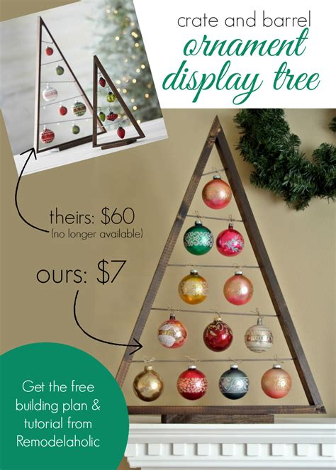 ways to display ornaments remodelaholic diy ornament display tree