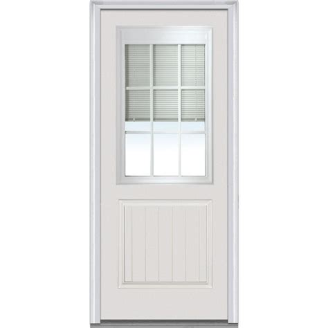32 inch steel exterior doors with blind home depot