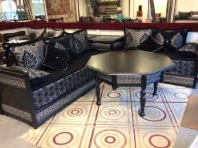 salon marocain noir confortable d 233 co salon marocain
