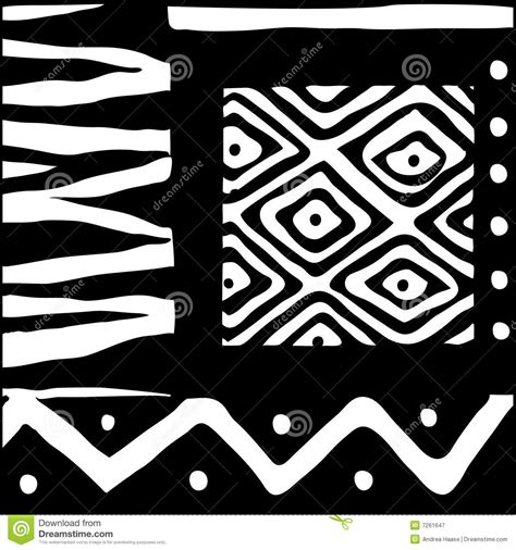 african pattern black and white african design black and white stock vector image 7261647
