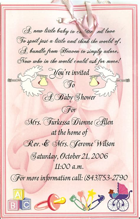 template for baby shower programs invitations