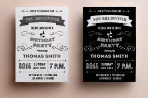 40th birthday ideas vintage birthday invitation templates