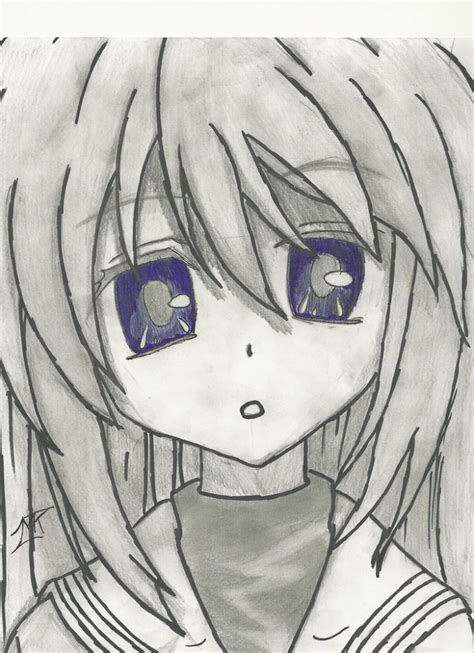 anime drawings anime drawings pencil tomoyo clannad pencil and pen