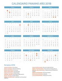 Calendario Panama 2018 Calendario Panam 225 A 241 O 2018 Feriados