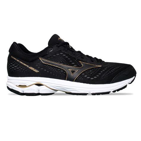 Mizuno Wave Black Gold mizuno wave rider 22 mens running shoes black gold