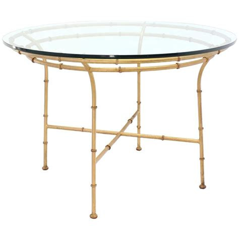 faux bamboo x base dining table for sale at 1stdibs