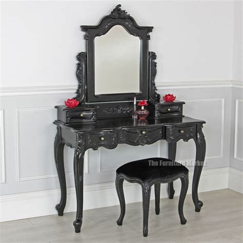 Big Lots Vanity Set by Noir Black Painted Dressing Table Set With Stool