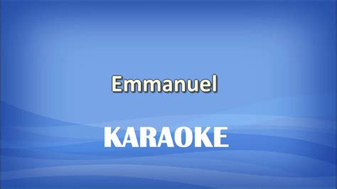 testo emmanuel emmanuel karaoke