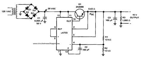 schematic diagram of regulated power supply build a 15v 1 a regulated power supply circuit diagram