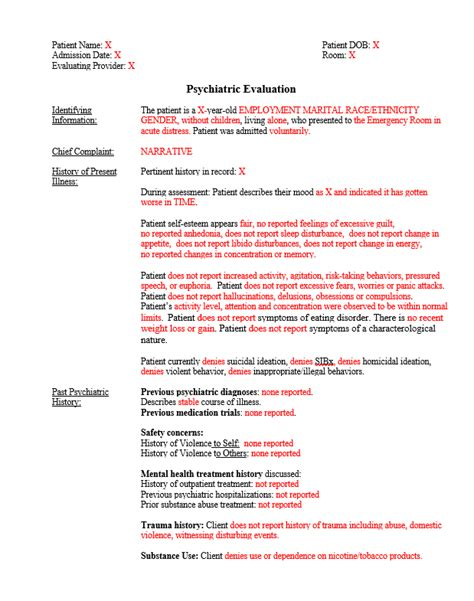 Nice Psychiatric Evaluation Template Images Psychiatric Evaluation Template Awesome 51 Awesome Child Psychiatric Template