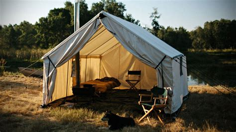 canvas wall tent ball and buck canvas wall tent lets up to four person brave the elements
