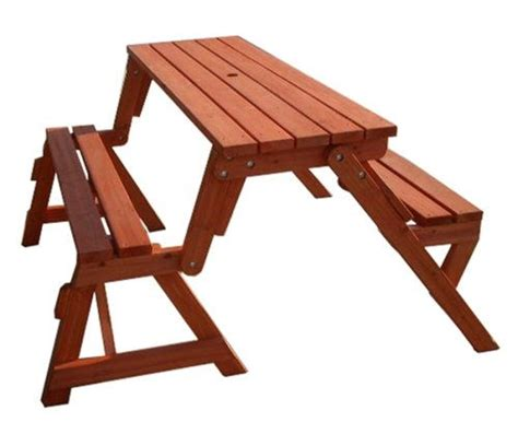 picnic table bench combo creative ideas diy folding bench and picnic table combo