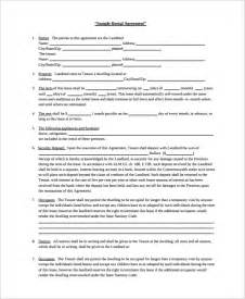 Landlord Agreement Template by Sle Rental Agreement 19 Documents In Pdf Word