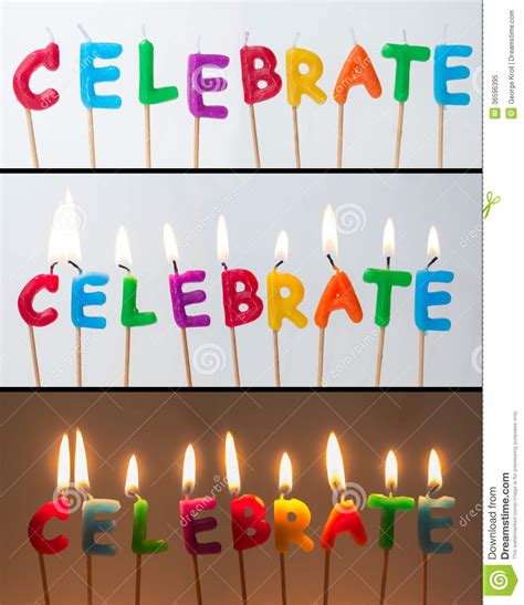 Fakes A Three Way For Bday by Celebrate Candles Royalty Free Stock Photo Image 36596395