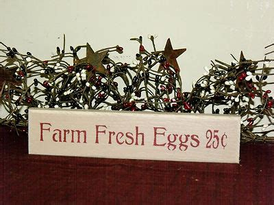 Farm Fresh Eggs Shelf by Primitives Hq Price Guide
