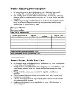 data center disaster recovery plan template 9 disaster recovery plan exles free premium templates